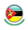mozambique flag button mozambique flag icon of vector image vector image