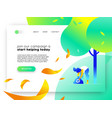 nature help online web landing page template vector image vector image