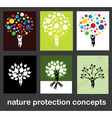 nature protection concepts vector image vector image
