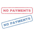 no payments textile stamps vector image vector image