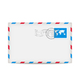Postage envelope with stamp vector image vector image