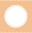 retro photoframe spare place in round frame vector image vector image