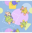 Seamless pattern for textiles vector image
