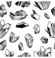 Seamless pattern with crystals vector image vector image