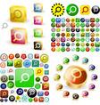 search icon set vector image
