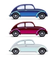 Set of multicolored Old cars vector image vector image