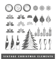 Set of silhouettes of a Christmas vector image vector image