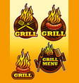 signs of grill and barbecue vector image