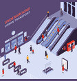 subway station isometric view vector image vector image