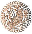The Phoenix of Chinese Mythology vector image