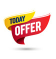 today offer sale template on waving flag vector image vector image