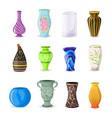 vase decorative ceramic pot and decor vector image vector image
