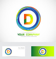 Letter D circle logo vector image