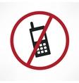 no cellphone sign vector image