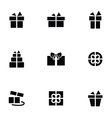 gift icons set vector image