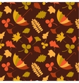 autumn seamless pattern with seasonal leafs and vector image
