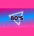 80s retro colors background with triangle shape vector image vector image