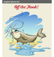 A fish getting caught vector image vector image