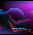 abstract colors curved motion style vector image vector image
