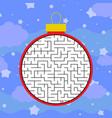 abstract round maze a simple flat isolated on a vector image