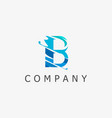 b logo template vector image vector image