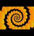 beech leaf on a black background vector image vector image