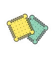 biscuits icon Eps10 vector image vector image