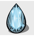 Blue diamond closeup decoration for your design vector image vector image
