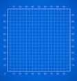 Blueprint squared paper sheet vector image