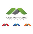 business corporate logo template vector image