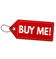 buy me label or price tag vector image