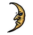 cartoon image of moon icon nighttime symbol vector image vector image
