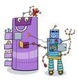 cartoon robots fantasy characters vector image