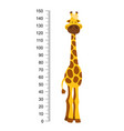 cheerful funny giraffe with long neck height vector image vector image