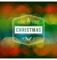 christmas greeting card vintage typographic vector image vector image