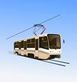 city tram vector image