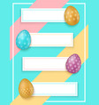 colorful easter eggs with banners easter sale vector image vector image