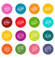 comic colored sound icons many colors set vector image vector image