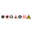 coronavirus 2019-ncov corona virus icons warning vector image