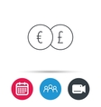 Currency exchange icon Banking transfer sign vector image vector image