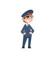 cute boy dressed as pilot kids future profession vector image vector image