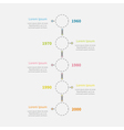 Dash line round icon Timeline vertical Infographic vector image vector image