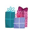 decorative celebration party gift boxes surprise vector image