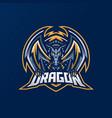 dragon esport gaming mascot logo template for vector image