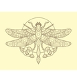 Dragonfly color drawing vector image vector image