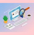 employment recruitment isometric background vector image
