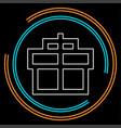 gift box icon - present icon vector image