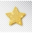 gold glitter star golden sparkle luxury vector image vector image