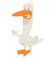 goose farm animal character vector image