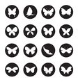 group butterflies in circle vector image vector image